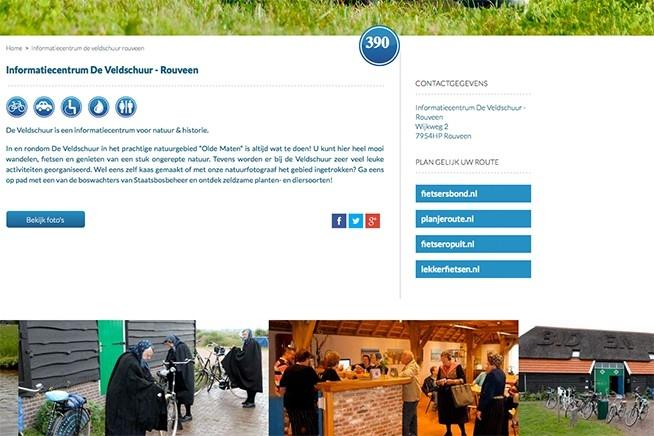 Veldschuur aangesloten bij landelijk Nederlands fietsnetwerk